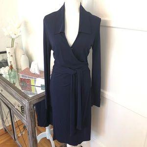 Diane Von Furstenberg Vintage Navy Wrap Dress
